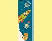 Personalized Outer Space Growth Chart - Blast Off