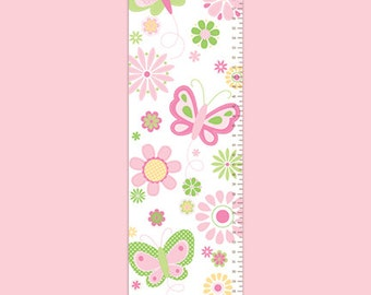 Personalized Growth Chart - Butterfly Kisses