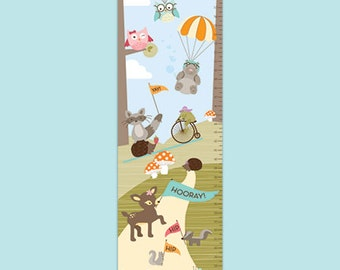 Personalized Growth Chart - Woodland Fun