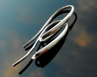 Sterling Silver Earring HOOKS Earwires Silver 925 Nickel Free 1 PAIR