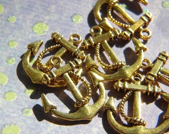 6   ANCHOR Charms CHOOSE Finish  - D.I.Y. Nautical Jewelry Making Pirates of the Caribbean Pendant Size