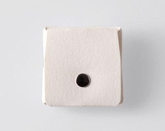Square Origami Washable Paper Coin Purse in Riambel White / Vegan Purse