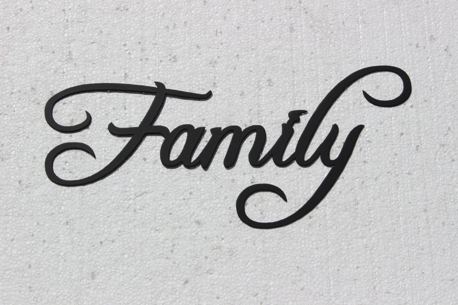 Family word decorative metal wall art home by for Word wall art