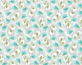 Half Yard Color Me Happy Bouquet in Gray, Vanessa Christenson, V and Co, Moda Fabrics, 100% Cotton Fabric, 10821 17