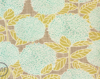 Bluebird Park Hydrangea in Lamp Post Fountain Blue, Kate and Birdie Paper Co., 100% Cotton, Moda Fabrics, 13101 17