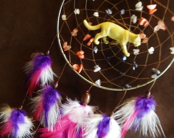 Dream Catcher- Lady Lioness- Choose your colors-  Made to Order