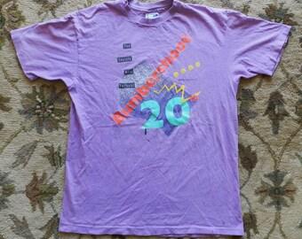vintage Bumbershoot T Shirt 1990 mens XL party USA 90s Seattle Music Festival purple