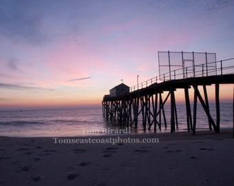 Beach photograph- jersey shore- sunrise photograph- new jersey- Belmar beach