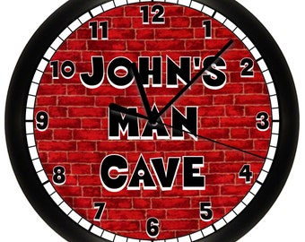 Personalized Man Cave Wall Clock Game or Rec Room