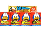 4 Howard the Duck Trading Card & Sticker Packs by Topps 1986