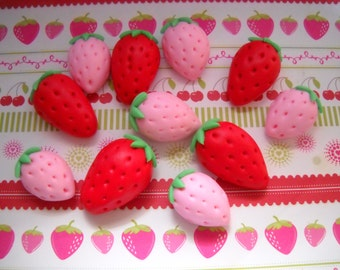 Fondant Strawberries Set of 12