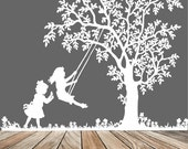 tree decal: wall decals, nature wall decals, vinyl, vinyl wall decal, wall decal stickers, tree,  decal, little girls, nursery wall stickers
