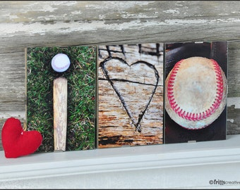 Framed Baseball sign, I love Baseball,  Framed Alphabet Photography, gift for husband, boys and boyfriend