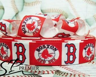 """7/8"""" Baseball Grosgrain Ribbon"""