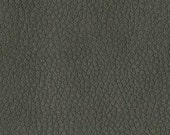 Quality Leather Look Upholstery Fabric -Faux Leather for upholstery- Home and Automobile-Color: Chinchilla -Simulated Leather-Contract Rated