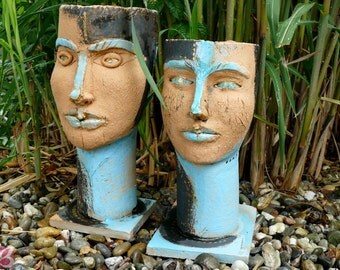 Ceramic sculptures - ceramic heads
