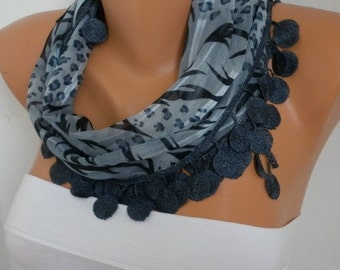 Gray Scarf  Cotton Scarf  Cowl Women  Fashion Accessories - best selling item scarf