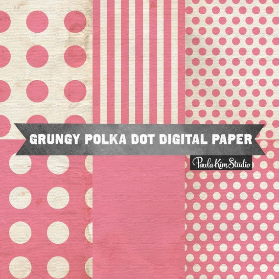 Items similar to 80% OFF SALE Pink Polka Dot Digital Paper ...