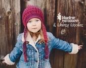 Crochet Hat Pattern: 'Twisted Sister', Crochet Toque, Toddler, Child, Tween & Women, Winter Fashion