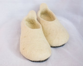 Felted wool slippers elegant conciseness