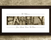 FAMILY SIGN, Personalized Alphabet Photography, Family Gift, Personalized Family Sign