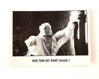 "Vintage ""You'll Die Laughing"" Trading Card #34 by Topps (c.1973) - Creature Feature Collectible, Altered Art Card, Universal Monster Card"