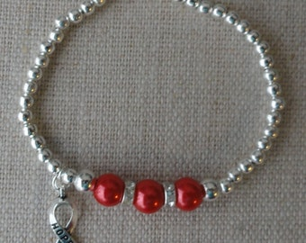 024 Heart Disease/Stroke Awareness Bracelet