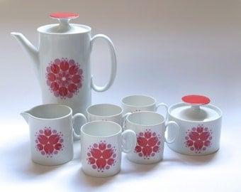 Thomas Rosenthal coffee tea set 'pinwheel' atomic mid century