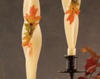 candle, beeswax candle, taper candle, halloween candle, unscented candle, holiday candle, dripless candle, hostess gift, thanksgiving candle