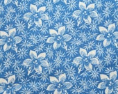Blue Flower Fabric for MDG Fabrics/Blue Floral Cotton Quilt Craft Apparel/Fabric by the Yard/Half Yard/Fat Quarter/PRICES Vary