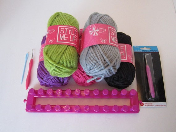 Style Me Up Long Knitting Loom With Bulky Yarn