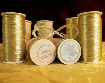 Vintage Metallic Gold Thread from France