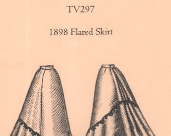 TV297 - Truly Victorian #297, 1898 Flared Skirt Sewing Pattern