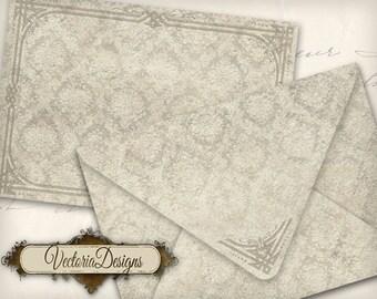 Shabby Chic Envelopes Printable Envelopes instant download digital collage sheet VD0717
