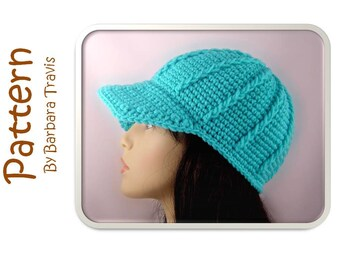 Crochet Pattern Chunky Ribbed Baseball Cap H1007