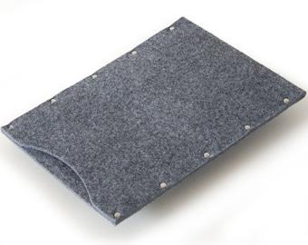 iPad Air Case, Cover, Sleeve grey felt cover handmade by SleeWay