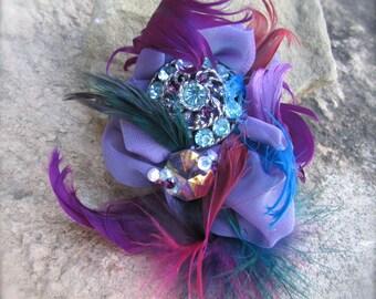 Brooch Pin handmade Rainbow elegance