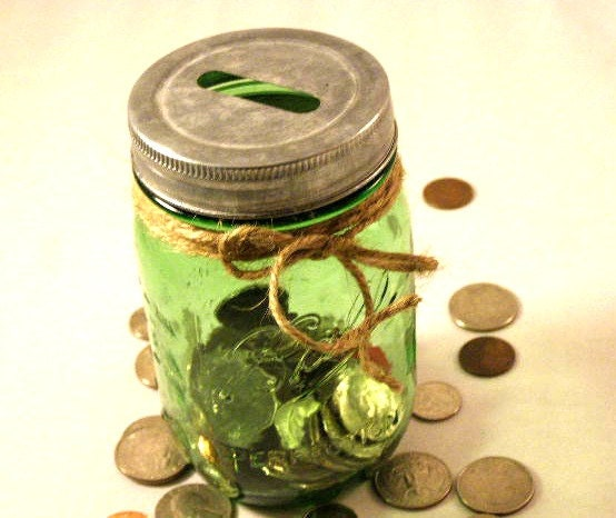 Kitchen dining for Mason jar piggy bank
