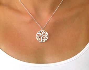 Tree of Life Pendant Necklace - Family Tree Necklace - Tree Necklace