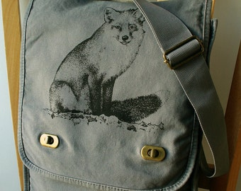 Fox Canvas Messenger Bag