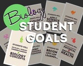 BIOLOGY Student Goals Posters (8 in the set)