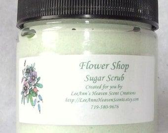 Floral Sugar Scrubs, Gardenia Sugar Scrub, Jasmine Vanilla Scrub, Plumeria Scrub, Sweet Pea Sugar Scrub, Violet Scrub, Floral Scrub