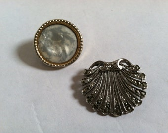 A Pretty Little Pair of Vintage Victorian Style Pins for Your Favorite Lapels