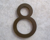 Modern House Number Aluminum Modern Font Number EIGHT 8 in Bronze