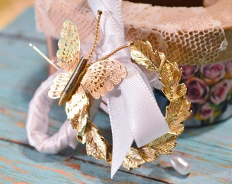 Boutonniere - Vintage Butterfly Brooch ....