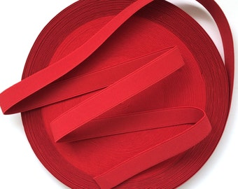 "1"" Chilli Red Stretch Elastic Band"