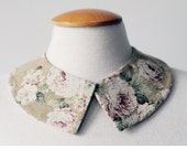 Floral collar / Vintage style fabric / Collar necklace