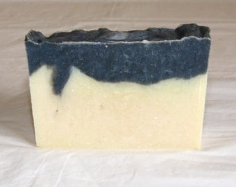 Clearance Black and White Gingham Scented Luxury Cold Process Soap with Aloe
