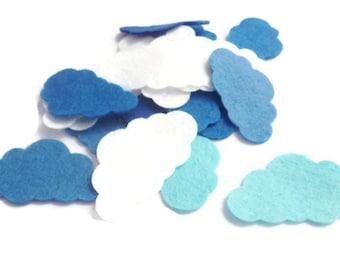 Felt shapes pre cut felt cloud white blue cloud fabric die cut felt shapes