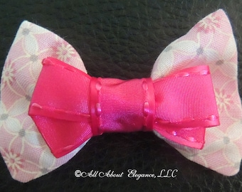 Couture Hair Bow, in pink